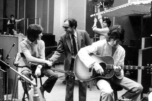 Godard et Mick Jagger - Gianni Pirozzi Des cailloux dans l'objectif