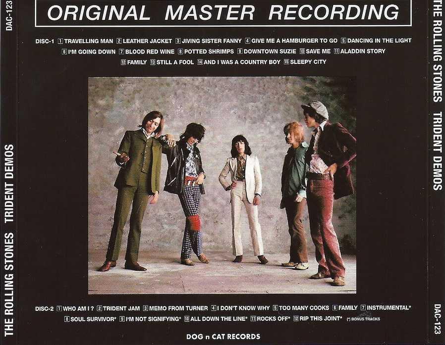 The Rolling Stones Trident Demos - Gianni Pirozzi Des cailloux dans l'objectif
